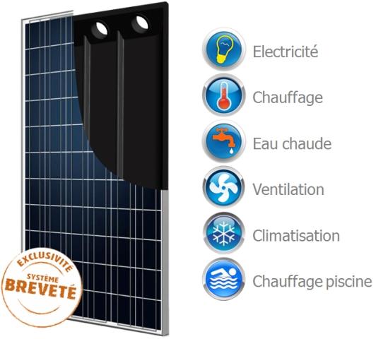 L habitat co responsable blog archive le panneau photovolta que thermique - Panneau solaire hybride ...