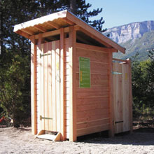 L habitat co responsable blog archive toilettes for Construction toilette seche exterieur